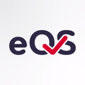 The letters e Q S with a red tick through the q and s.